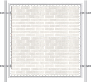 Brick Wall Printed Mesh Fence Screen-1010