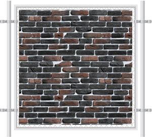 Brick Wall Printed Mesh Fence Screen-1012