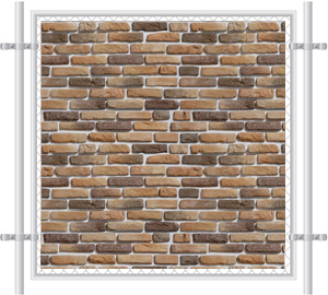 Brick Wall Printed Mesh Fence Screen-1013