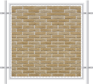 Brick Wall Printed Mesh Fence Screen-1014