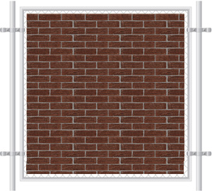 Brick Wall Printed Mesh Fence Screen-1015