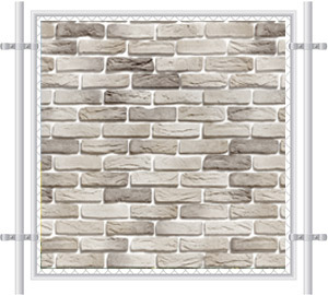 Brick Wall Printed Mesh Fence Screen-1019