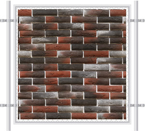 Brick Wall Printed Mesh Fence Screen-1020