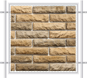 Pre-Printed Mesh Brick Fence Graphics 1021