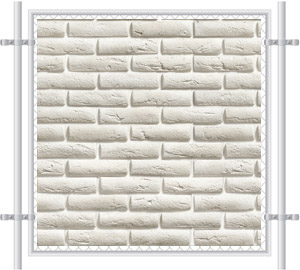 Brick Wall Printed Mesh Fence Screen-1022