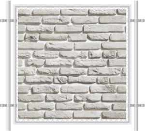 Brick Wall Printed Mesh Fence Screen-1023