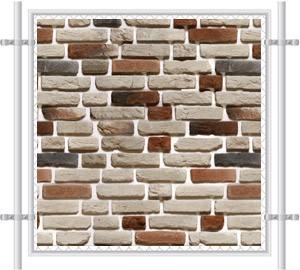 Brick Wall Printed Mesh Fence Screen-1024