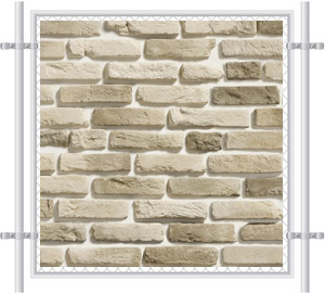Brick Wall Printed Mesh Fence Screen-1025