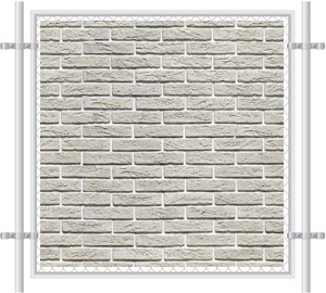 Brick Wall Printed Mesh Fence Screen-1026