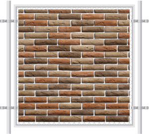 Brick Wall Printed Mesh Fence Screen-1032