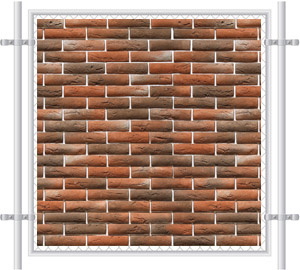 Brick Wall Printed Mesh Fence Screen-1034