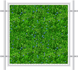Green Grass Printed Mesh Fence Screen-2051