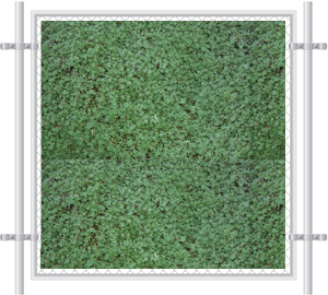 Green Grass Printed Mesh Fence Screen-2057