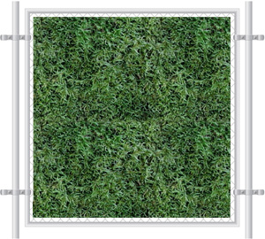 Green Grass Printed Mesh Fence Screen-2058