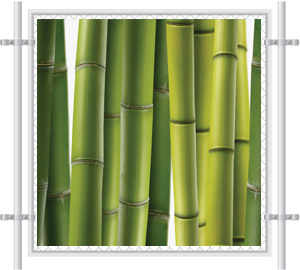 Green Grass Printed Mesh Fence Screen-2072