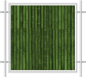 Green Grass Printed Mesh Fence Screen-2075
