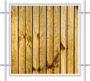 Wood Pre-Printed Mesh Fence Screen 2078