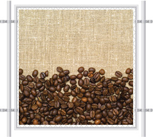 Coffee Beans Fence Screen 5002