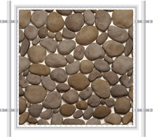 Spa Stone Fence Mesh Screen 4034