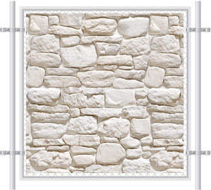 White Stone Fence Screen 4035