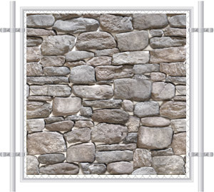 Stone Wall Printed Mesh Fence Screen-4036