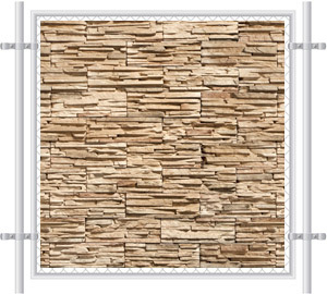 Stone Wall Printed Mesh Fence Screen-4039