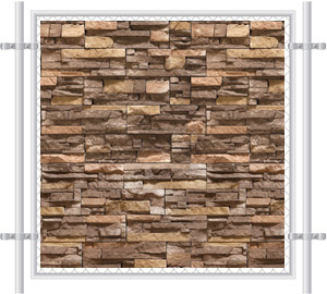 Stone Wall Printed Mesh Fence Screen-4040