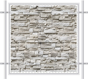 Stone Wall Printed Mesh Fence Screen-4041