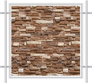 Stone Wall Printed Mesh Fence Screen-4042