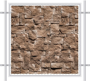 Stone Wall Printed Mesh Fence Screen-4045