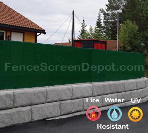 4'x10' Green Fence Tarp  85% Blockage