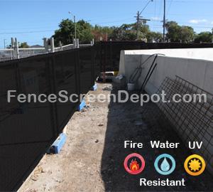 5'x25' Black Chain Link Fence Mesh  85% Blockage
