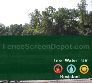 5'x50' Green Windscreen Material 85% Blockage