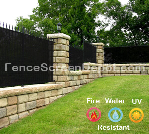 4'x50' Black Fence Cover 85% Blockage