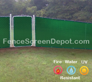 4'x25' Green Fence Screen Fabric 85% Blockage