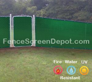 4'x25' Green Fence Screen Fabric 85% Blockage