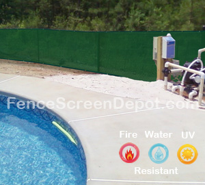 5'x25' Green Screen Fence 85% Blockage