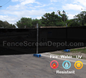 5'x50' Black Fence Screening Material 85% Blockage