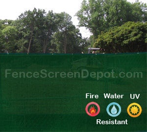6'x25' Green Fence Wind Screens 85% Blockage
