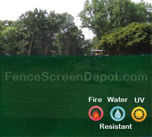 6'x25' Green Fence Wind Screens 85% Blockage