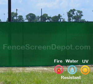 6'x50' Green Mesh Fence 85% Blockage