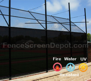 6'x50' Black Mesh For Fence 85% Blockage